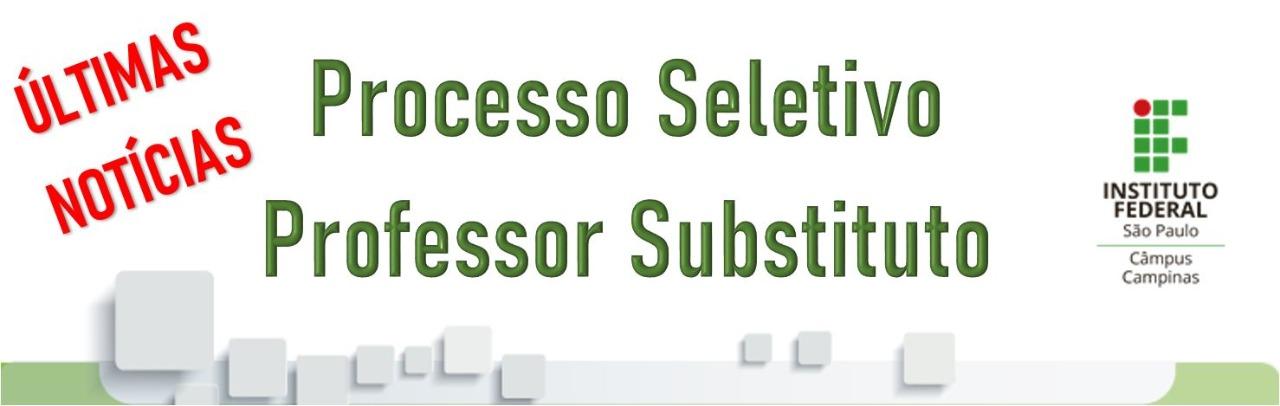 Processo Seletivo - Professor Substituto - Biologia
